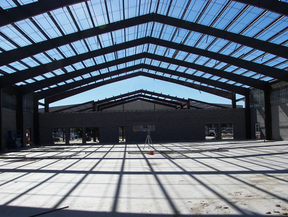 Frame Work for Commercial Metal Building